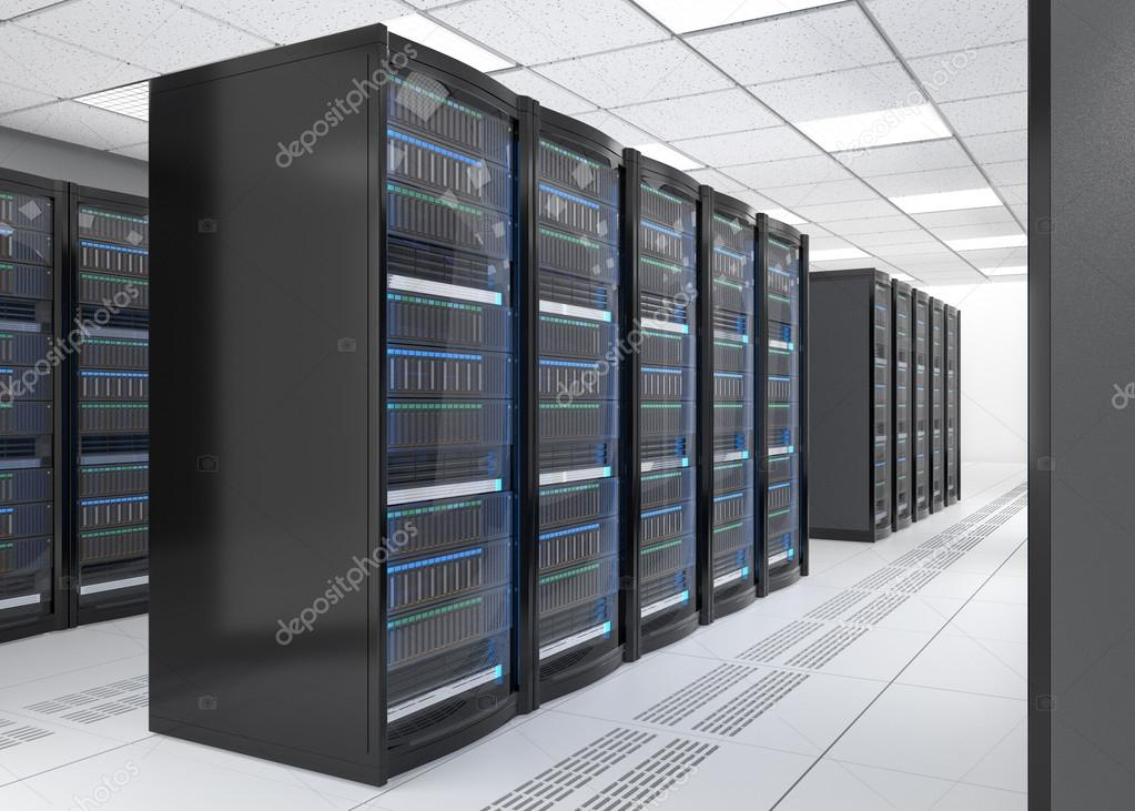 Modern server room interior — Stock Photo © chesky_w #104780540