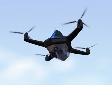 Autonomous unmanned drone with surveillance camera.