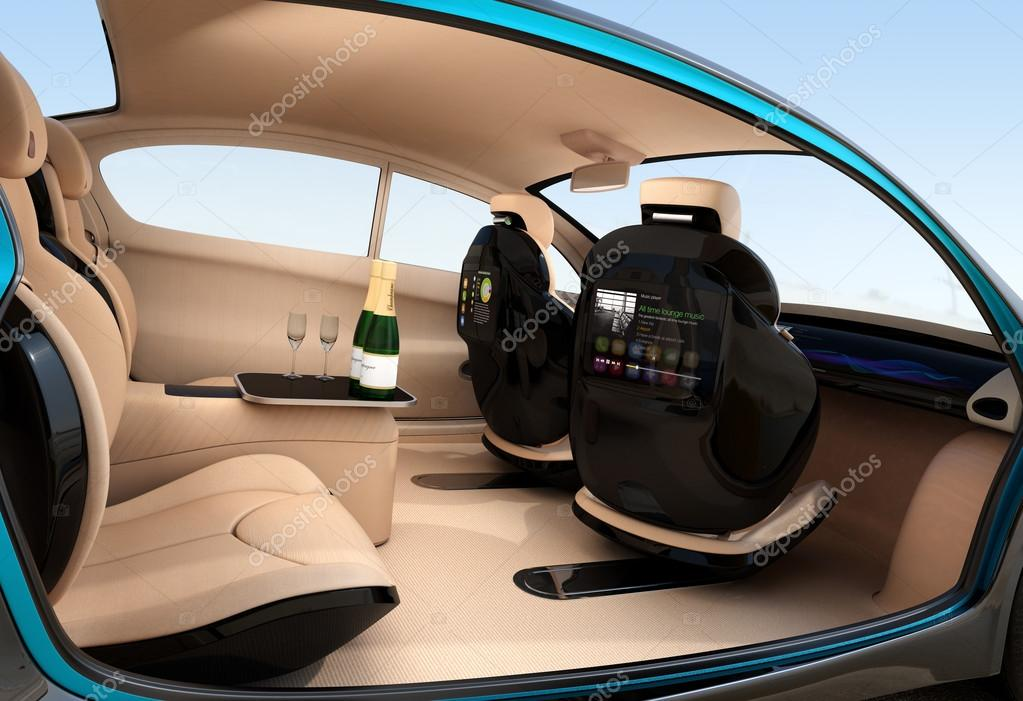 autonomes auto innenraum konzept luxuri ser innenraum. Black Bedroom Furniture Sets. Home Design Ideas