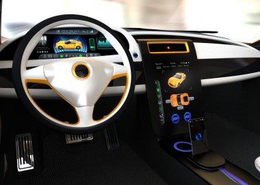Electric vehicle center display Interface concept
