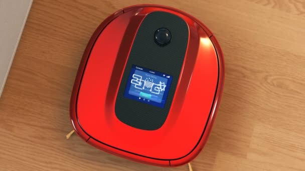 Description of robotic vacuum cleaners touch screen interface