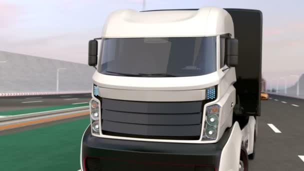 Fleet of autonomous hybrid trucks driving on wireless charging lane