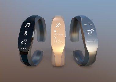 Smart bands with rubber bracelet