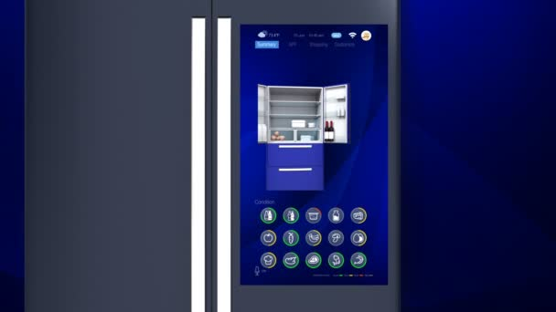 3D animation of smart refrigerator touch interface
