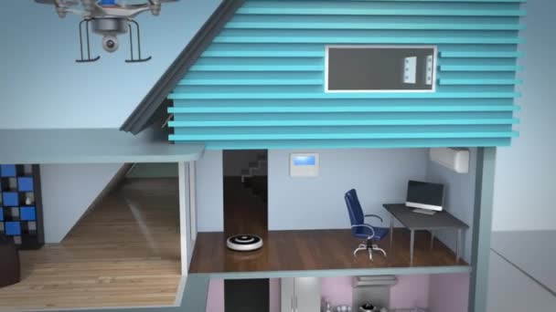 Průkaz koncepce inteligentního domu. Solární a větrné energie