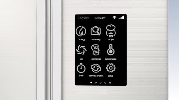 Inteligentní lednička s Lcd dotykovou obrazovkou. Koncepce Iot