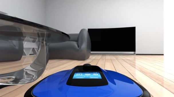 Camera on a robot vacuum cleaner