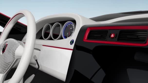 Ukázka designu konzole elektrické auto