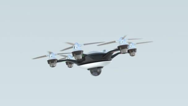 Drone s bezpečnostní kamery. Koncepce systému zabezpečení