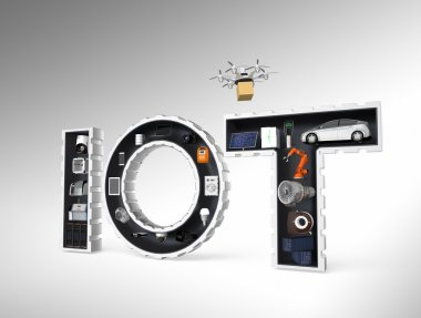 Smart appliance in word IoT. Internet of Things in industrial products concept