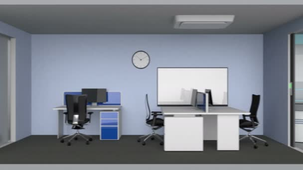 Animation of smart office building concept