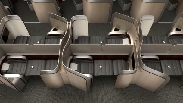 Luxus üzleti osztályú kabin belső fémes arany partíció