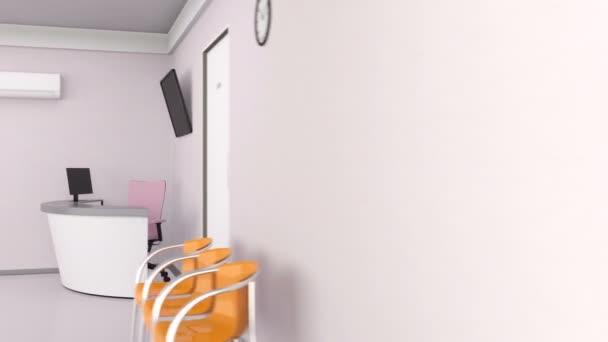 Looping animation of dental clinic interior