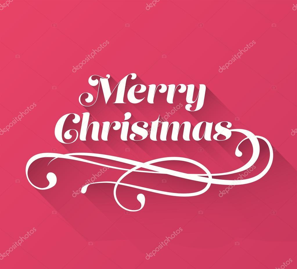 Frohe Weihnachten kursive Nachricht Vektor — Stockvektor ...