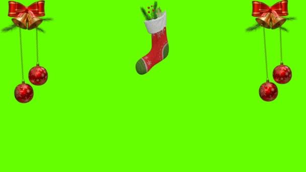 Veselé Vánoce Téma Zelená obrazovka 4K Animace - Veselé Vánoce dekorace. Vánoční téma a vánoční pozadí záběry.