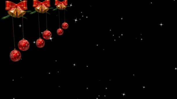 Vánoční téma Pozadí 4K Animace - Veselé vánoční ozdoby. Vánoční téma a vánoční pozadí záběry.