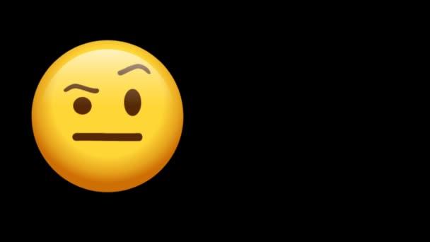 Cartoon Emoji Face Reaction Animation 4K. Animace Facial Expression Stock Záběry.