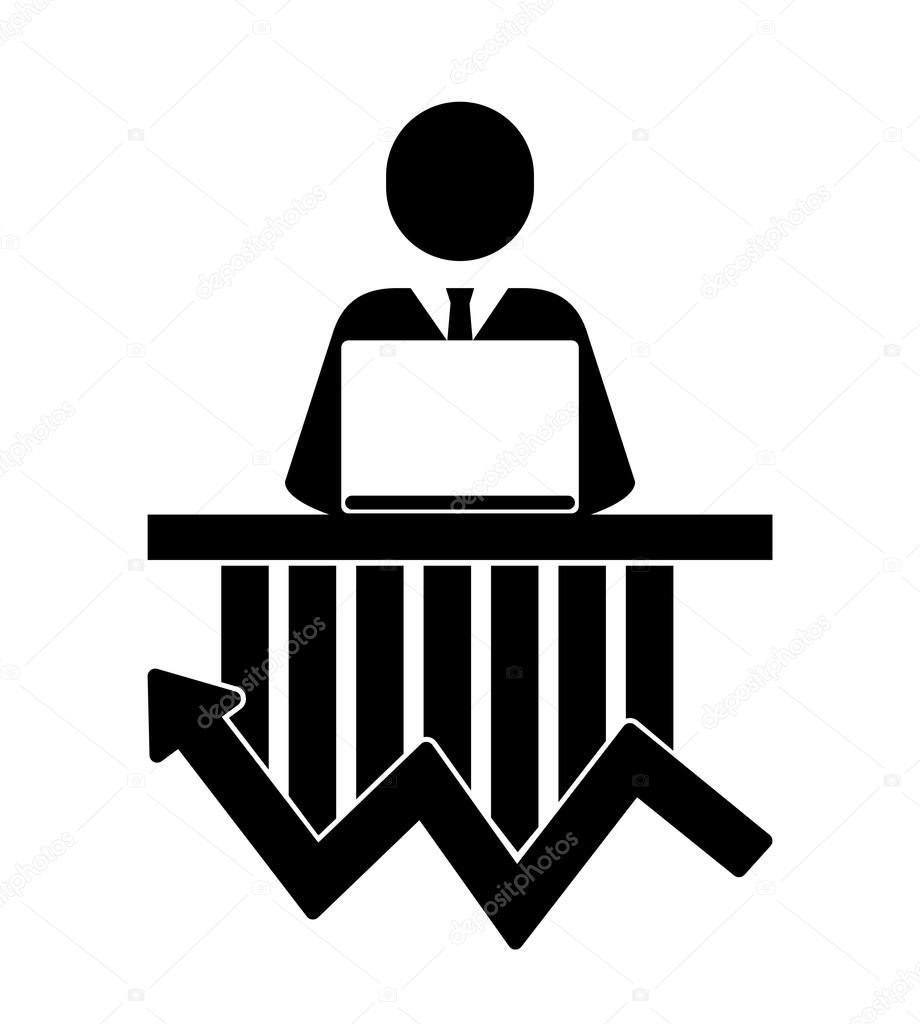 Stock Market Icon Vector Ilration Flat Design Style With Long Shadow Eps10