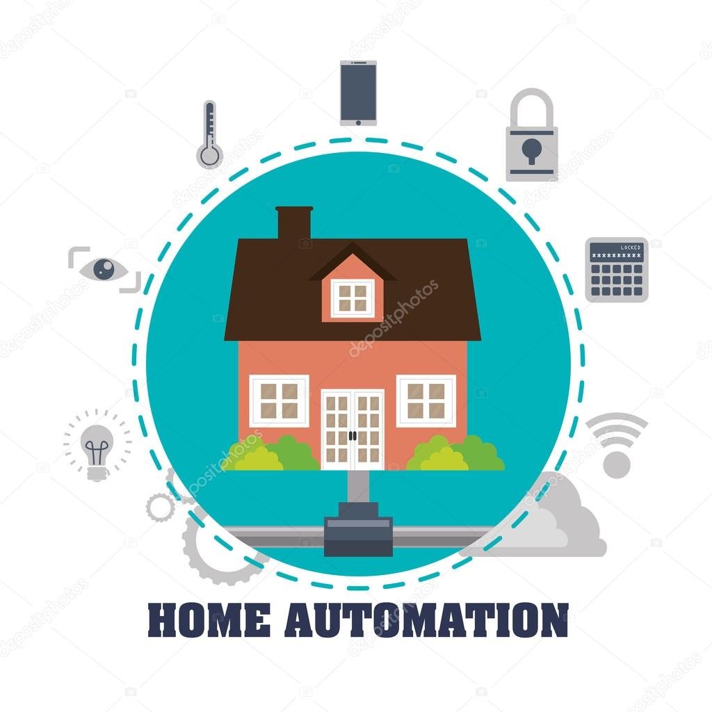 Home automation design — Stock Vector © djv #103167870