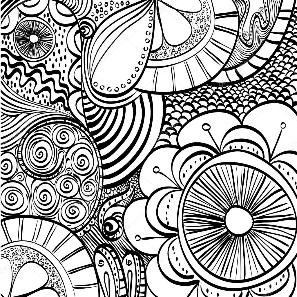 Black And White Draw Design Abstract Vector Stock Vector C Djv