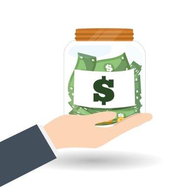 money  icon over white background, vector illustration