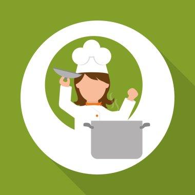 Chef design,  supplies icon. restaurant concept, vector illustration