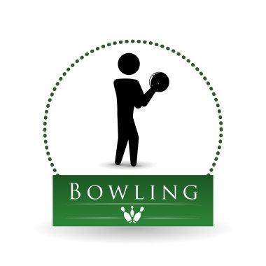 Bowling design. Sport icon. Flat illustration, sport vector