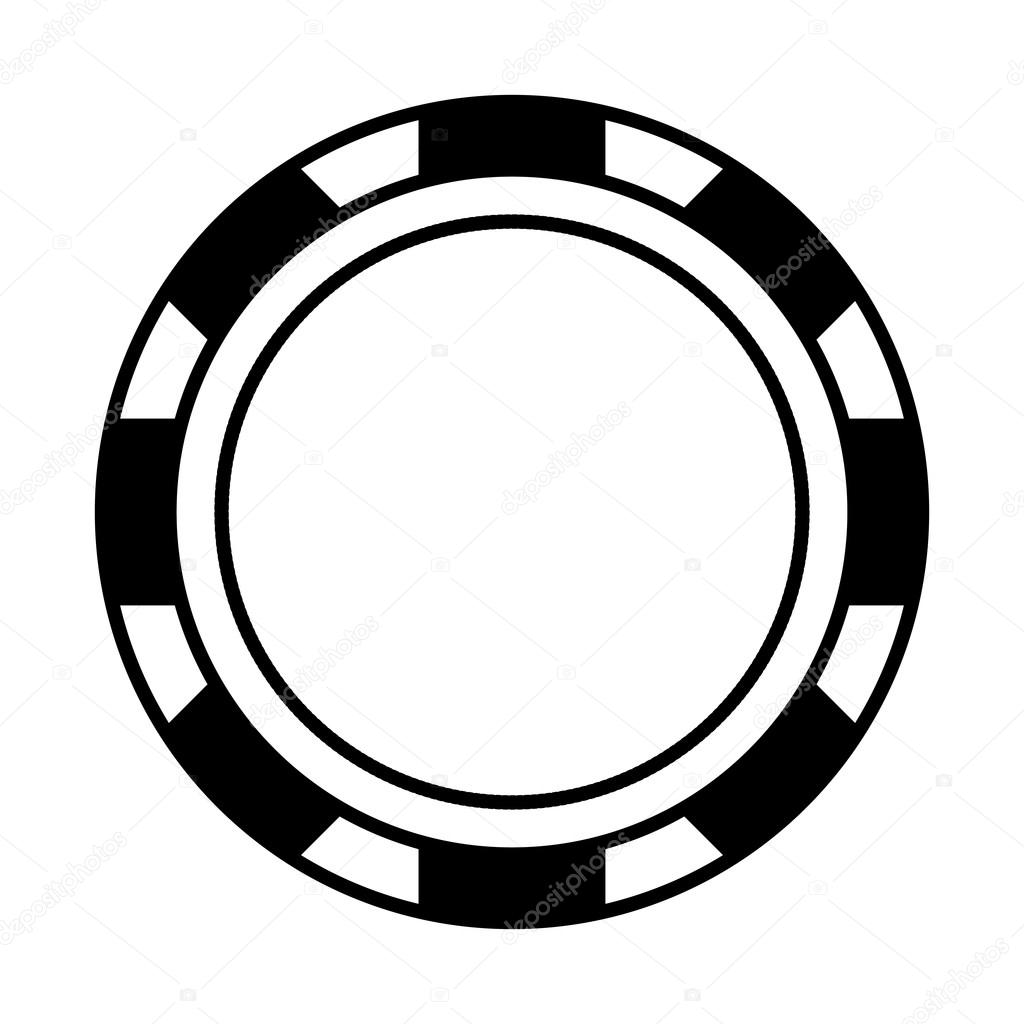 concepto de casino icono de chip blanco y negro gr u00e1fico poker chips vector free download poker chips vector free download