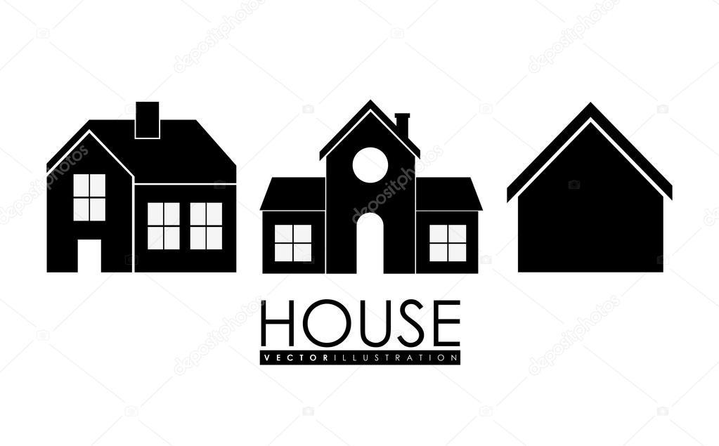 Casa de la familia icono casa con puerta y ventanas for Casas de diseno grafico en la plata