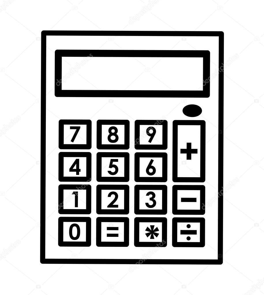 Taschenrechner Symbol Mathematik Design Vektorgrafik Stockvektor