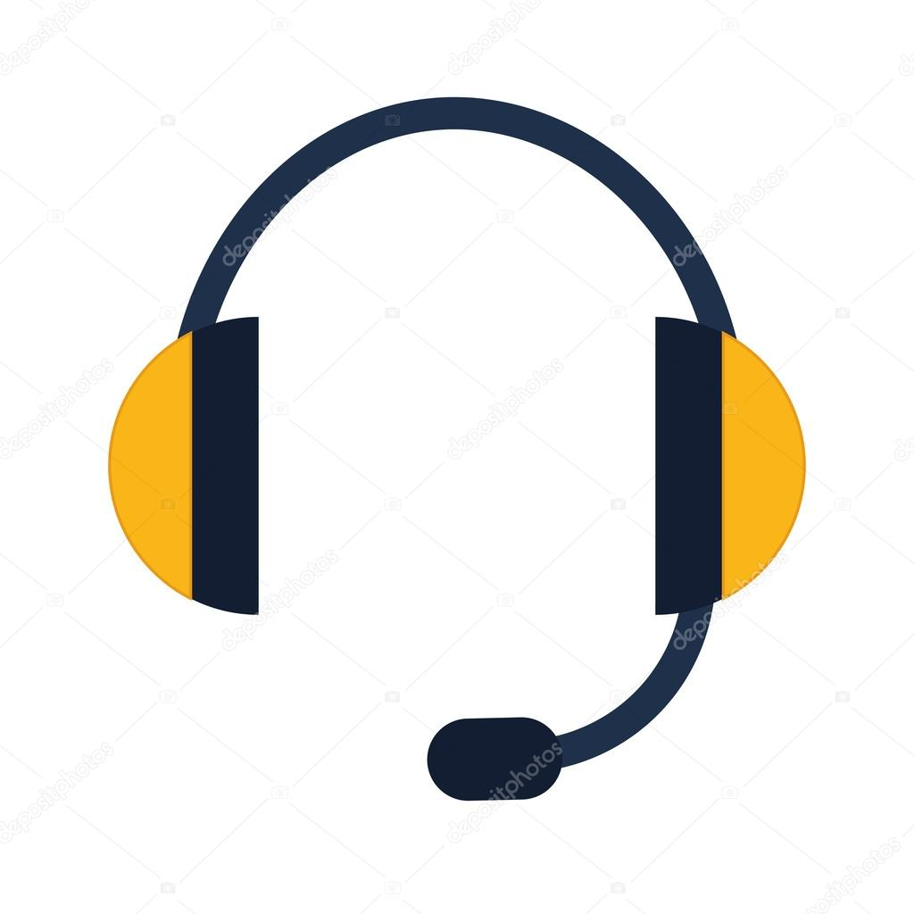 Headphone icon. Sound and music design. vector graphic