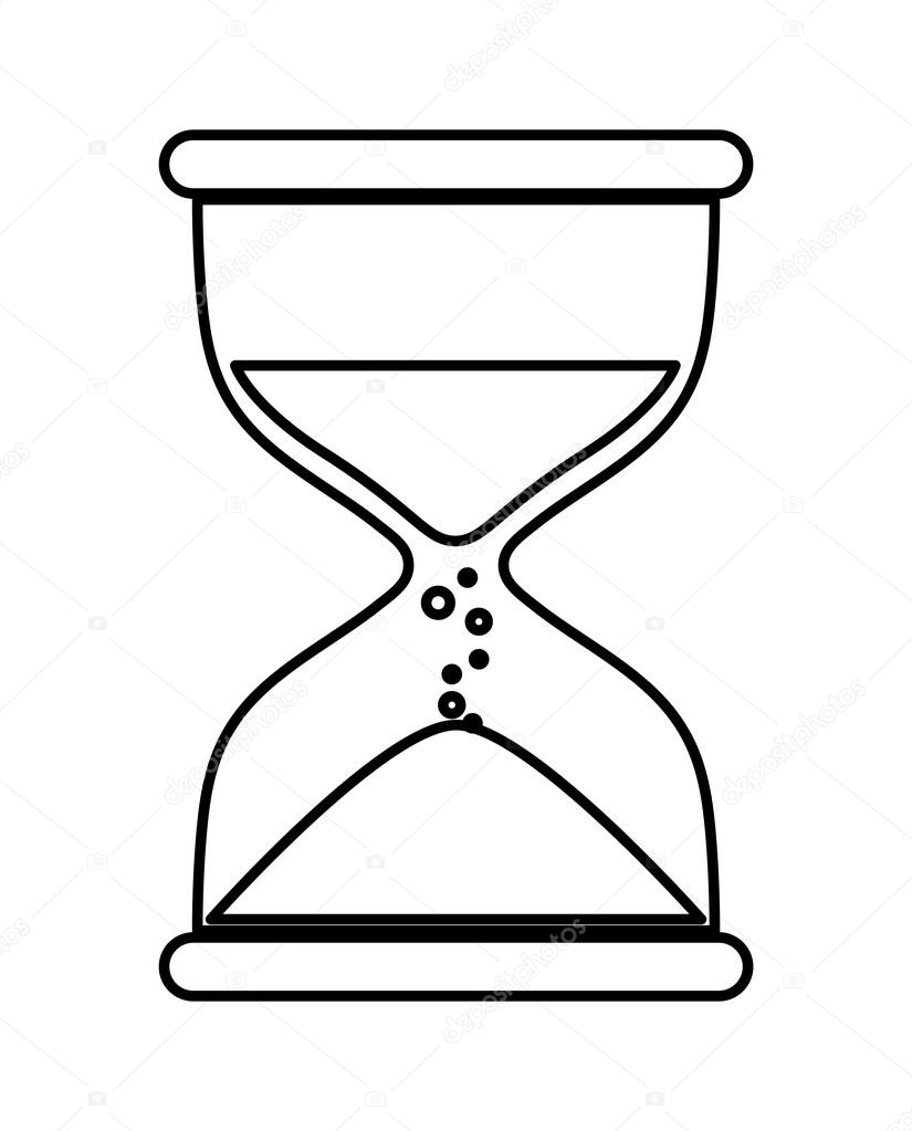 hourglass icon clock design vector graphic stock vector djv Money Hourglass Time time concept represented by hourglass icon over flat and isolated background vector by djv