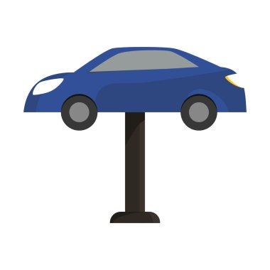 car icon. Repair design. vector graphic
