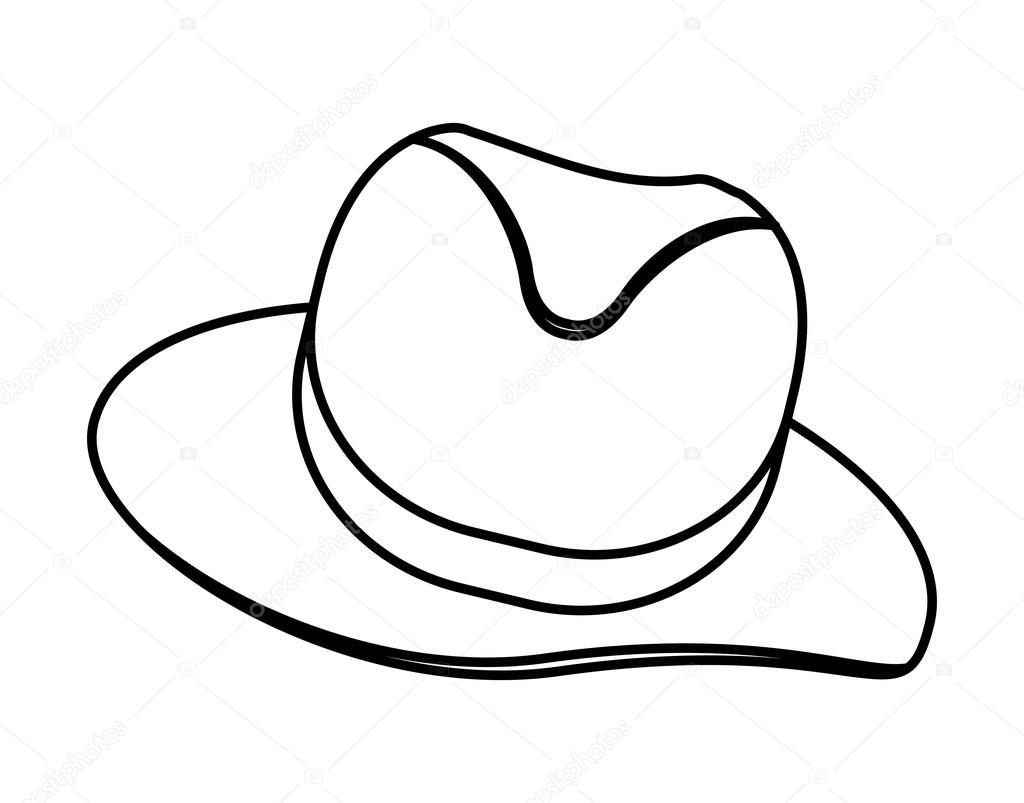 Desenho de chapéu. Pano masculino. gráfico de vetor — Vetores de Stock c935d7ffe13