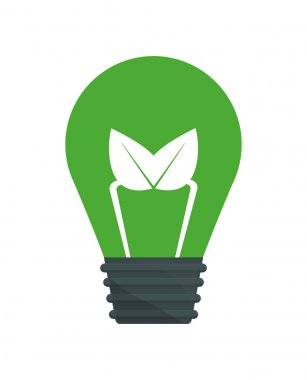 light bulb icon. Think green concept. Vector graphic