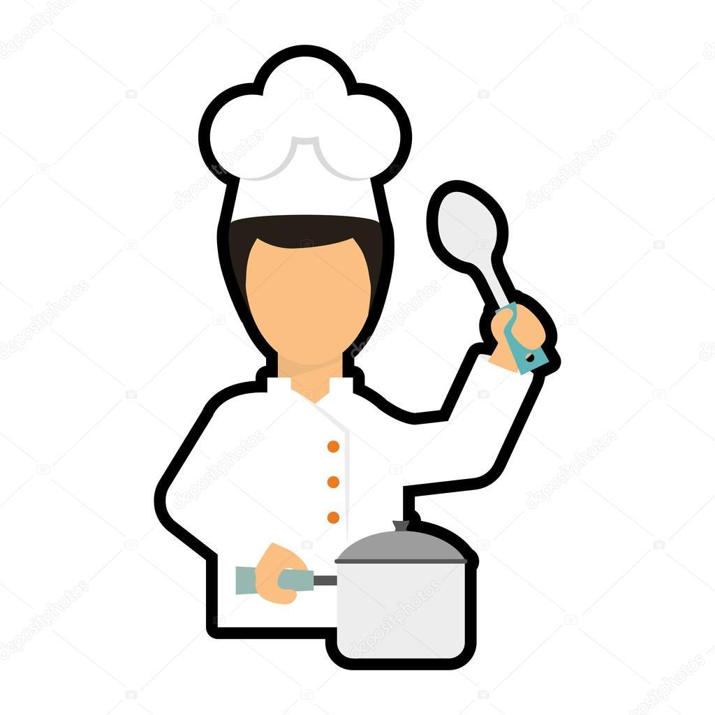 Icono de dibujos animados chef dise o de men y cocinar for Cocinar imagenes animadas