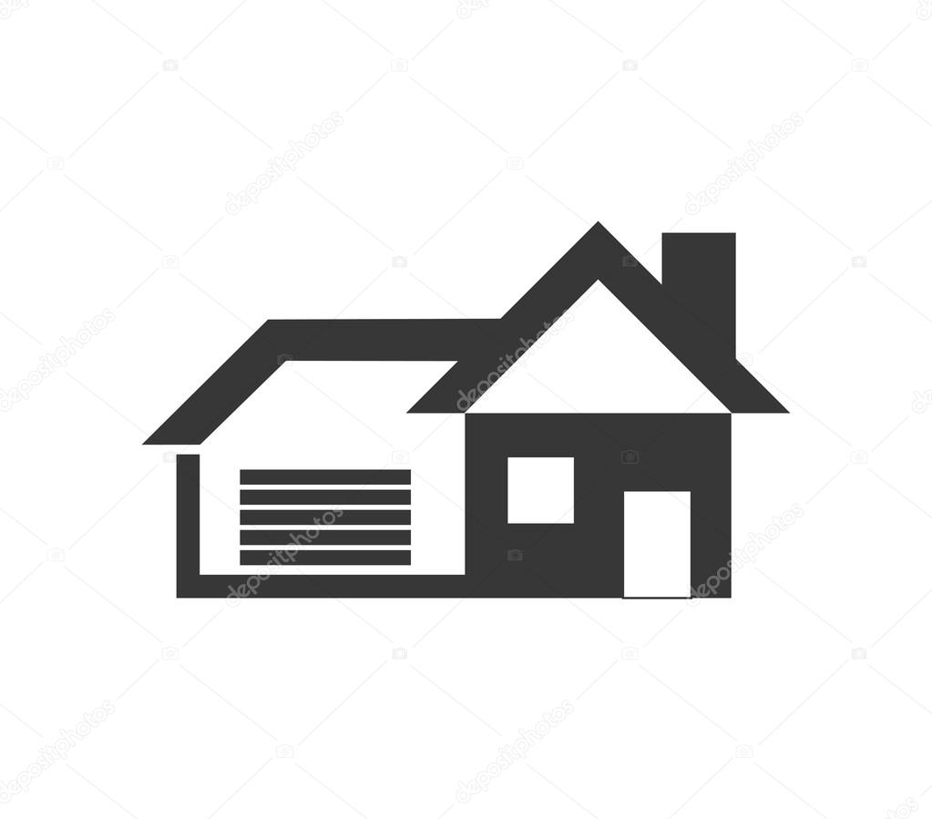 House icon. Family home design. Vector graphic — Stock Vector © djv ...