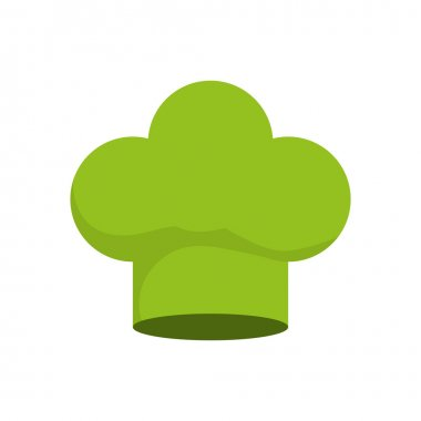 chefs hat icon. Organic and Healthy food design. Vector graphic