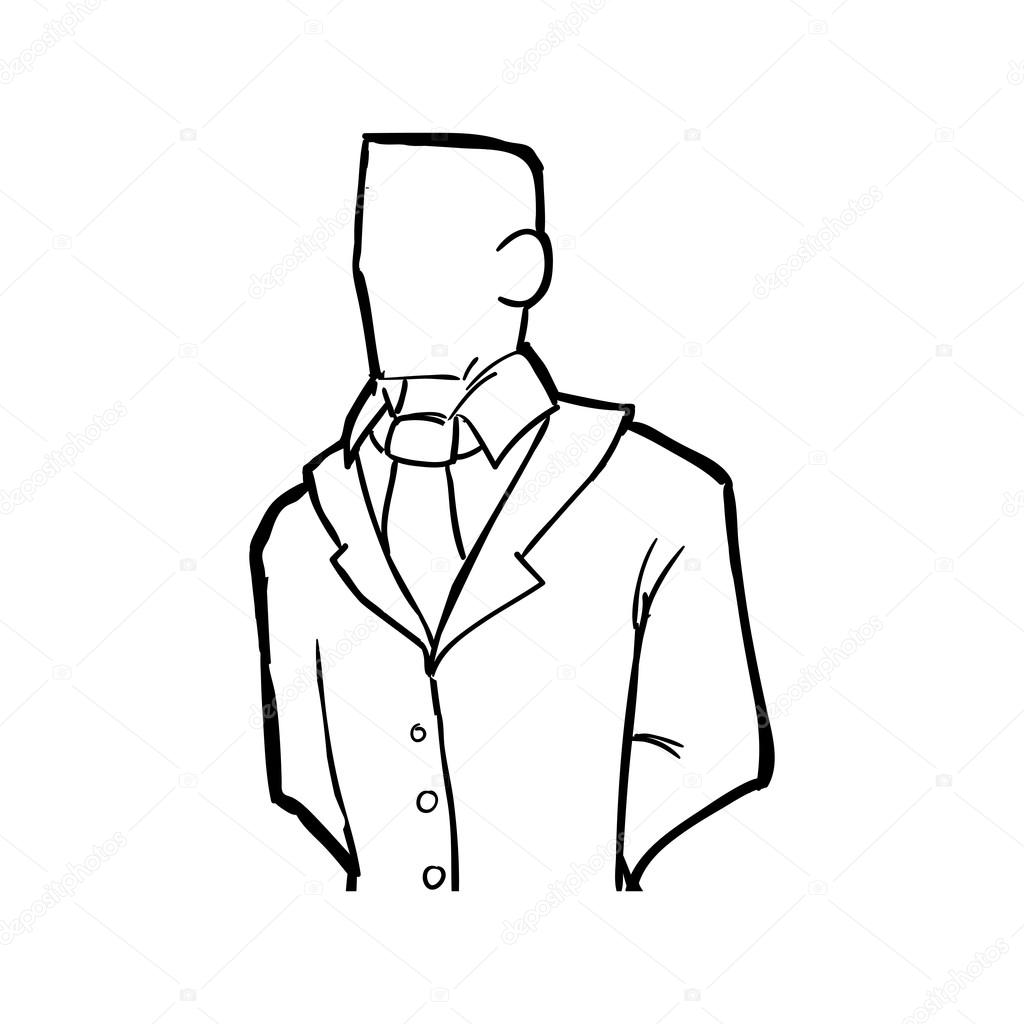 Mann Symbol Person Und Cartoon Vektorgrafik Stockvektor