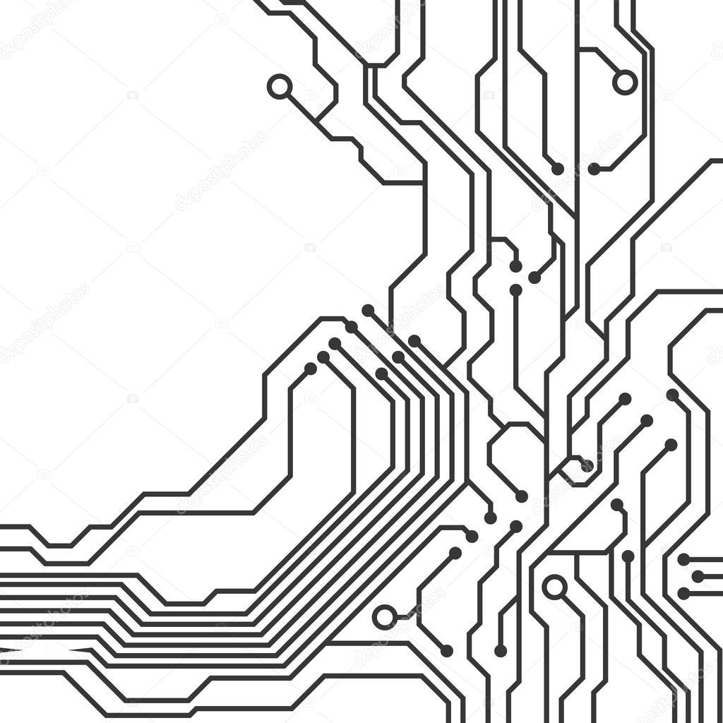Circuit Board Icon Technology Design Vector Graphic Stock Picture Of The