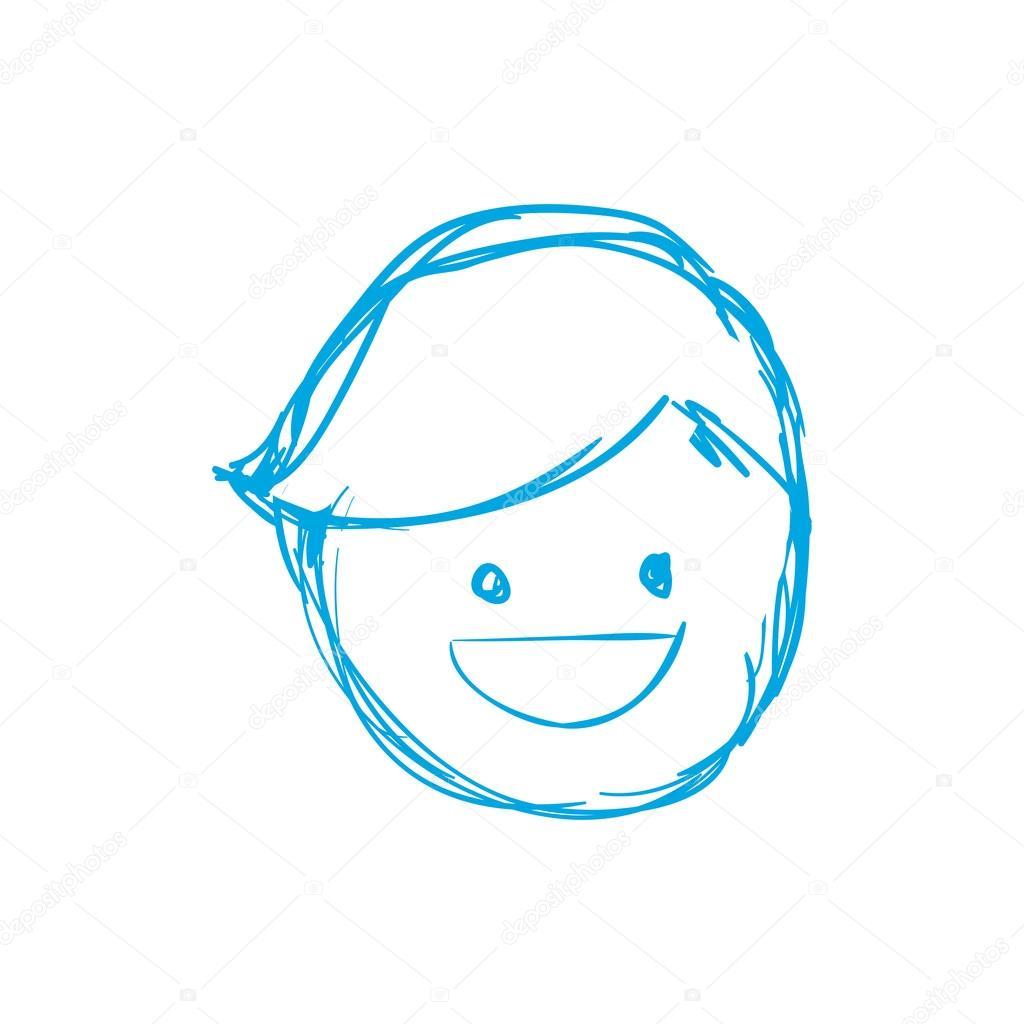 Boy Icon Avatar Sketch Vector Graphic Stockvektor Djv 118288694