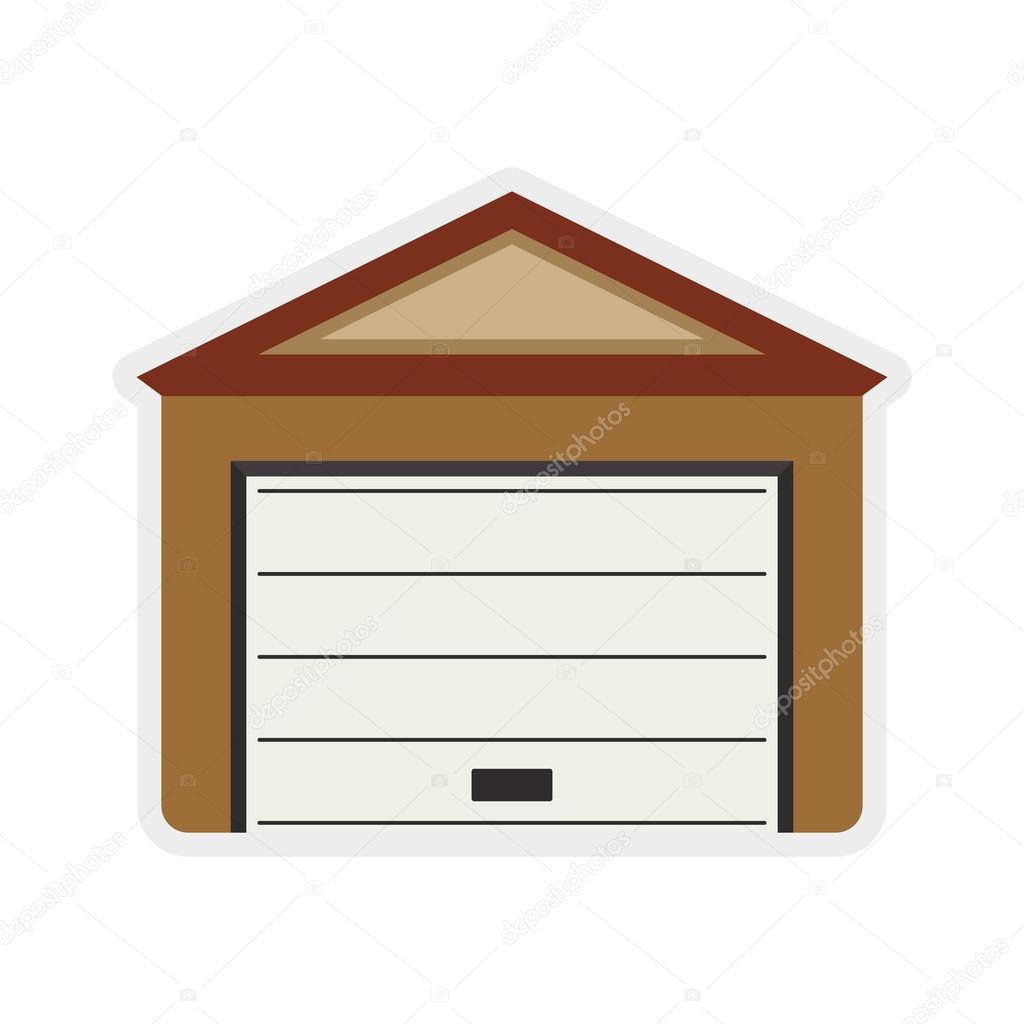 Garage-Symbol. Reparatur und Wohndesign. Vektorgrafik — Stockvektor ...