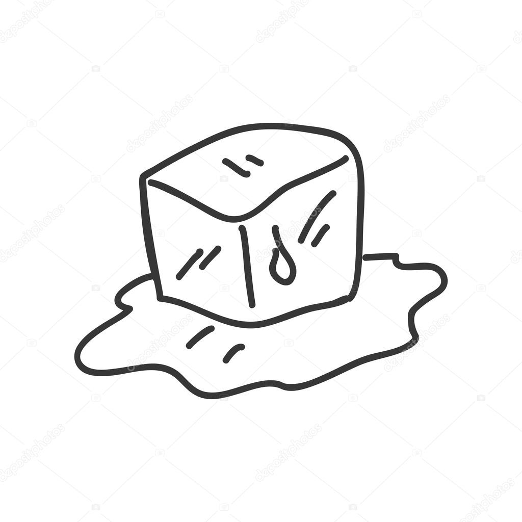 Ice Cube Icon Sketch Design Vector Graphic Stock Vector C Djv