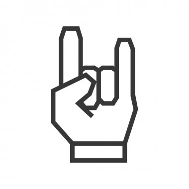 hand gesture icon. Rock music design. Vector graphic