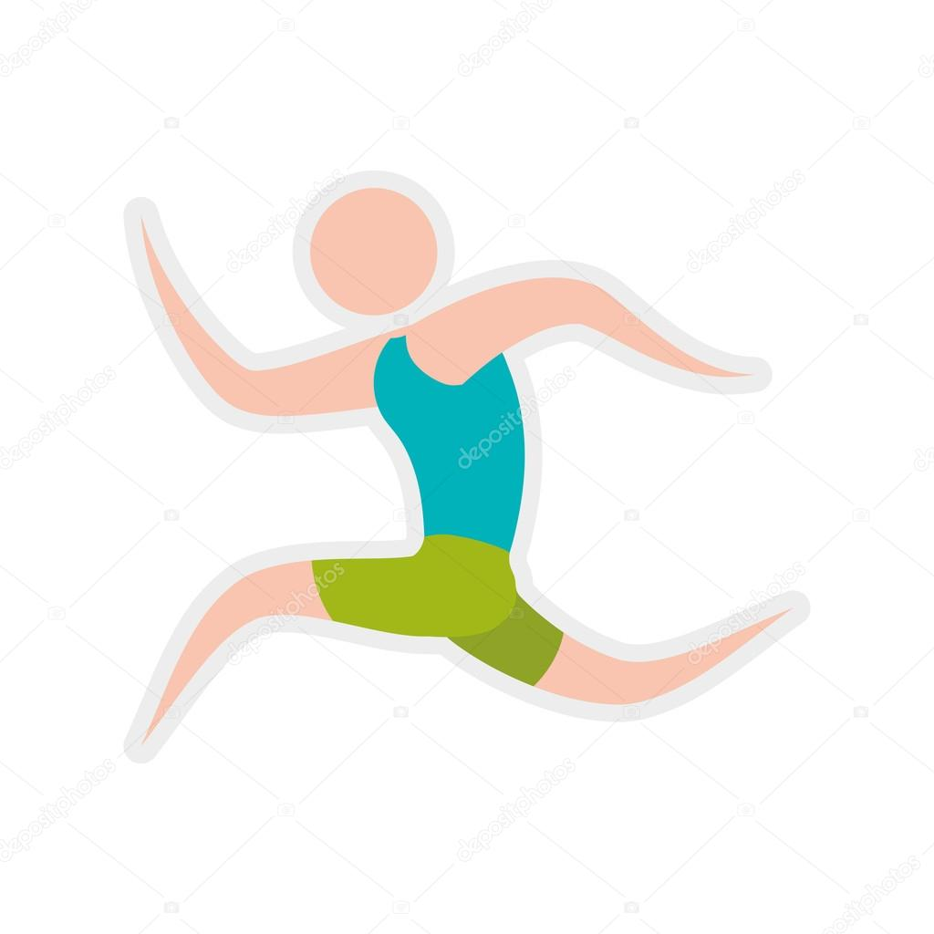 avatar action move sport fitness icon vector graphic stock vector