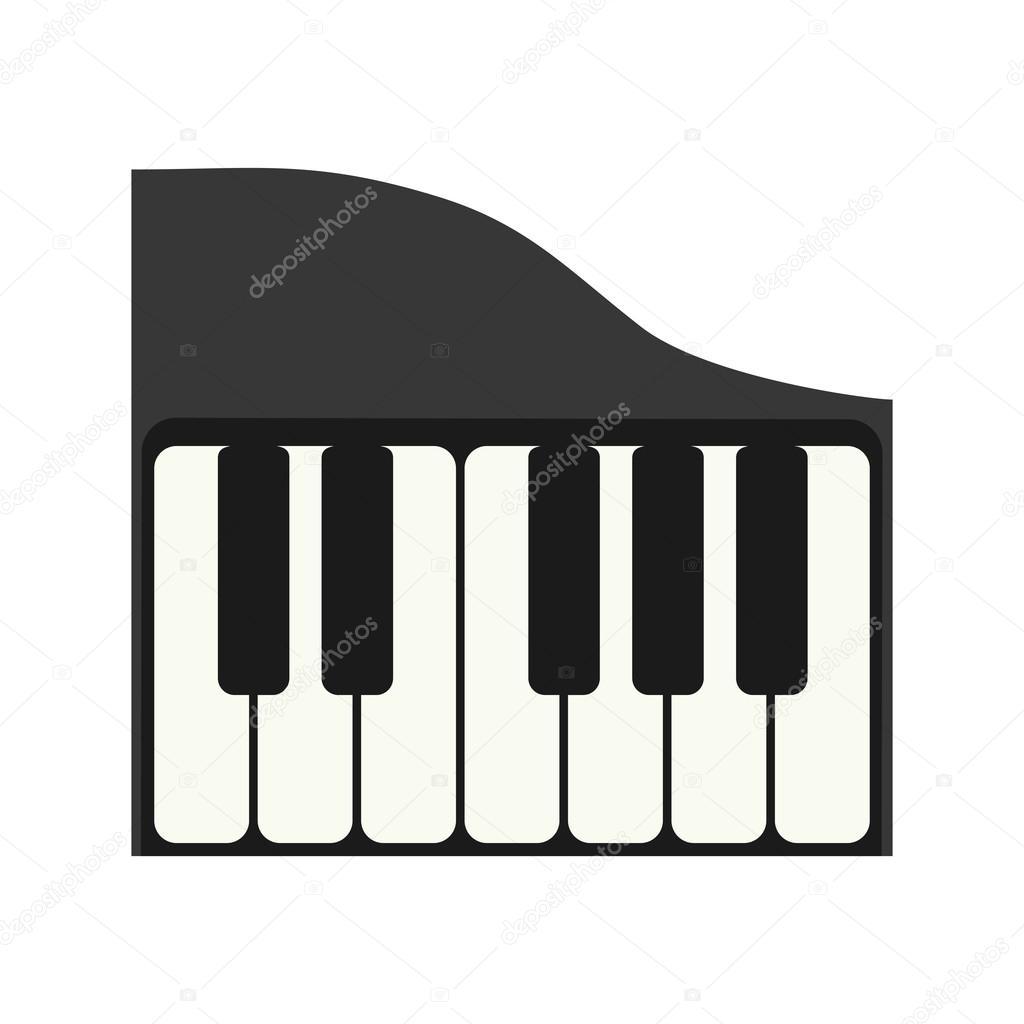 piano instrument music sound icon  Vector graphic — Stock Vector