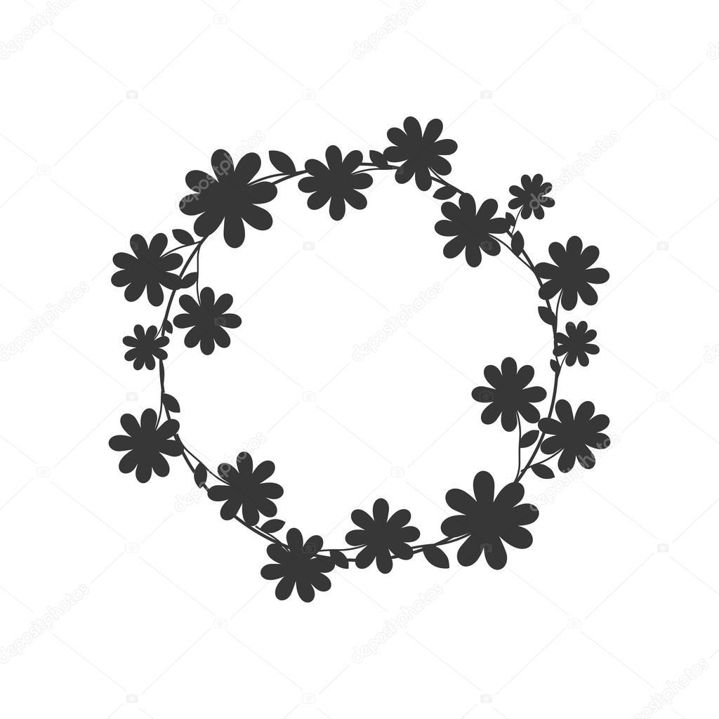 Icone De Fleur Couronne Couronne Illustration Vectorielle Image