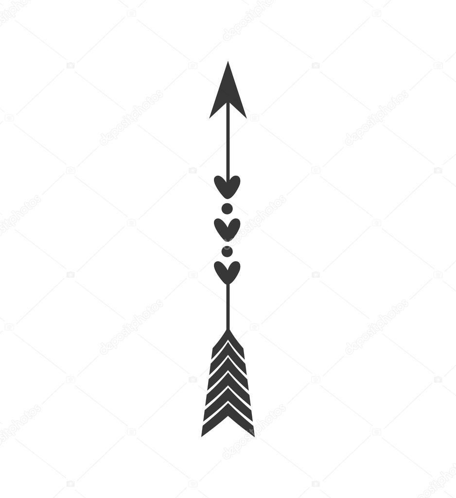 Vintage arrow icon