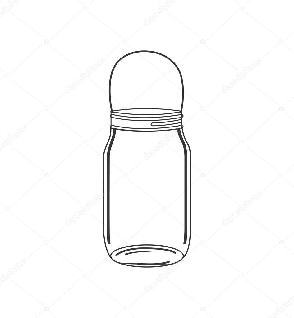 Mason Jar Glass Rustic Can Icon Vector Graphic Stock Vector C Djv
