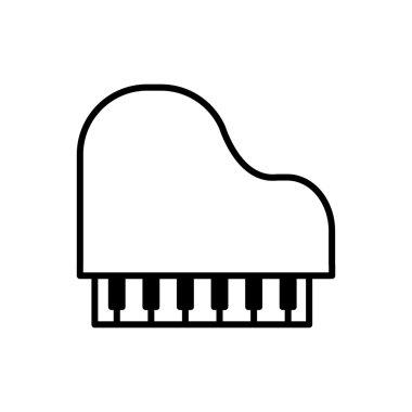 piano music melody sound icon. Vector graphic